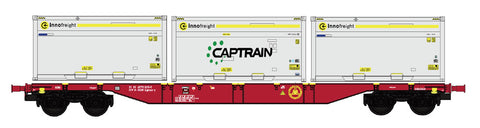 "B-Models 90801.1  Innofreight Container Wagon A-RCW Sgns ""CAPTRAIN"" - The Scuderia 46"