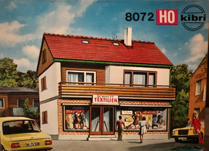 Kibri 8072  Single Family home with Schmitt Textilien Shop - The Scuderia 46
