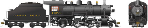 Rapido Trains 602507  Canadian Pacific D10k Ten Wheeler Steam Locomotive