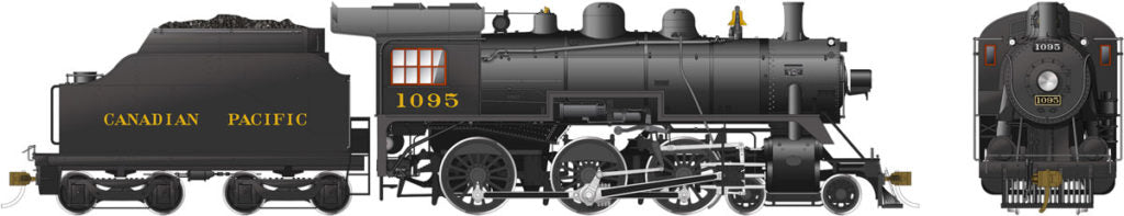 Rapido Trains 602508  Canadian Pacific D10h Ten Wheeler Steam Locomotive