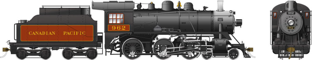 Rapido Trains 602510  Canadian Pacific D10j Ten Wheeler Steam Locomotive