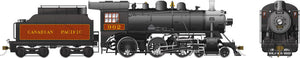 Rapido Trains 602010  Canadian Pacific D10j Ten Wheeler Steam Locomotive