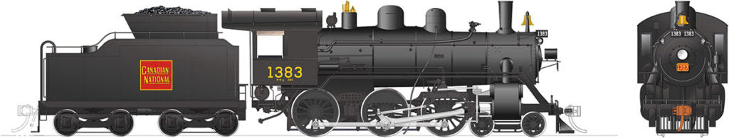 Rapido Trains 603512  Canadian National H-6-g Steam Locomotive
