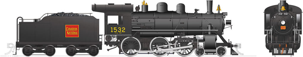 Rapido Trains 603515  Canadian National H-6-d Steam Locomotive