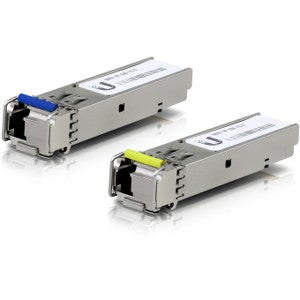 Ubiquiti U Fiber SFP (mini-GBIC) Module - For Optical Network, Data Networking 1 LC Simplex 1000Base-BiDi Network - Optical Fiber Single-mode - Gigabit Ethernet - 1000Base-BiDi 1G BIDI