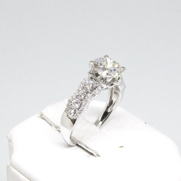 Engagement Ring with 1.54 Carat D Color Round Diamond -  - State Street Jewelry and Loan