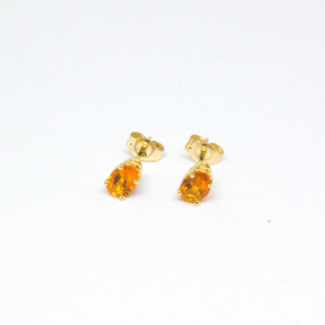 14K Yellow Gold Orange Sapphire Earrings -  - State Street Jewelry and Loan