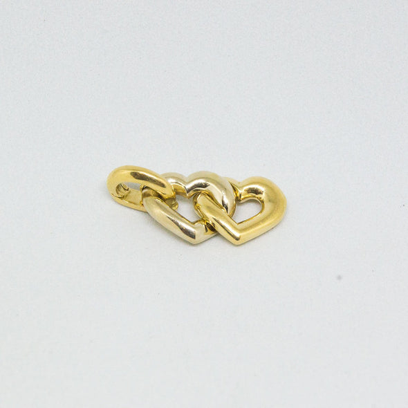 Cartier Double Heart Link Pendant 18k Yellow & White Gold - Pendant - State Street Jewelry and Loan