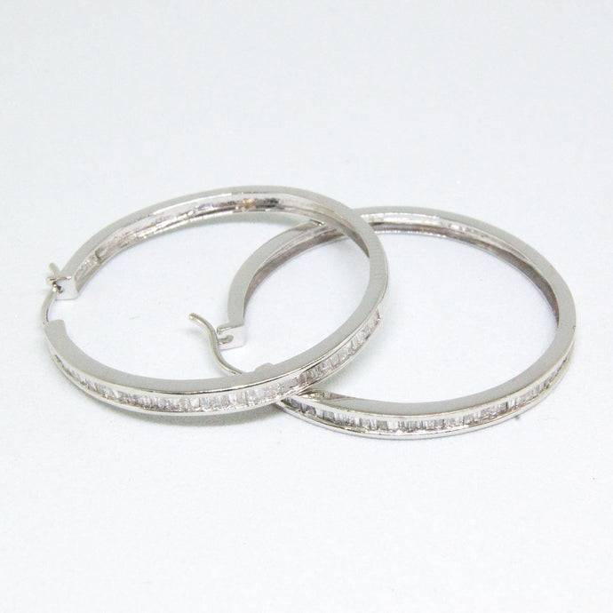 14k Diamond Hoop Earrings -  - State Street Jewelry and Loan