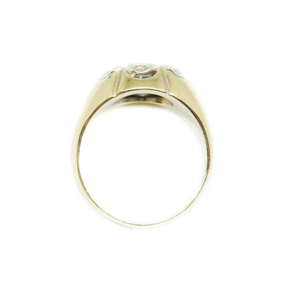 14k Yellow Gold Men's Ring with 1.5ctw Diamonds -  - State Street Jewelry and Loan