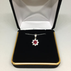 14K White Gold Ruby and Diamond Pendant -  - State Street Jewelry and Loan