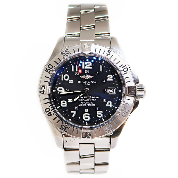 Breitling Superocean GMT Blue Arabic Dial Steel Automatic -  - State Street Jewelry and Loan