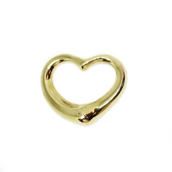Tiffany & Co, Elsa Peretti Open Heart Pendant, 18K Yellow Gold 27mm - Pendant - State Street Jewelry and Loan