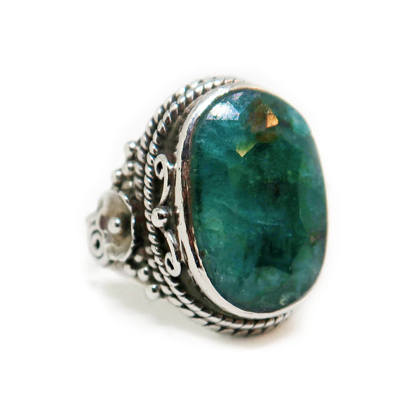 Sterling Silver Ring with Dark Jade -  - State Street Jewelry and Loan