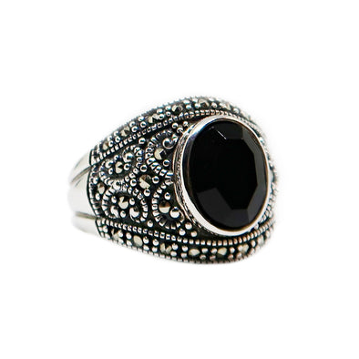 Sterling Silver Ring with Black Onyx -  - State Street Jewelry and Loan