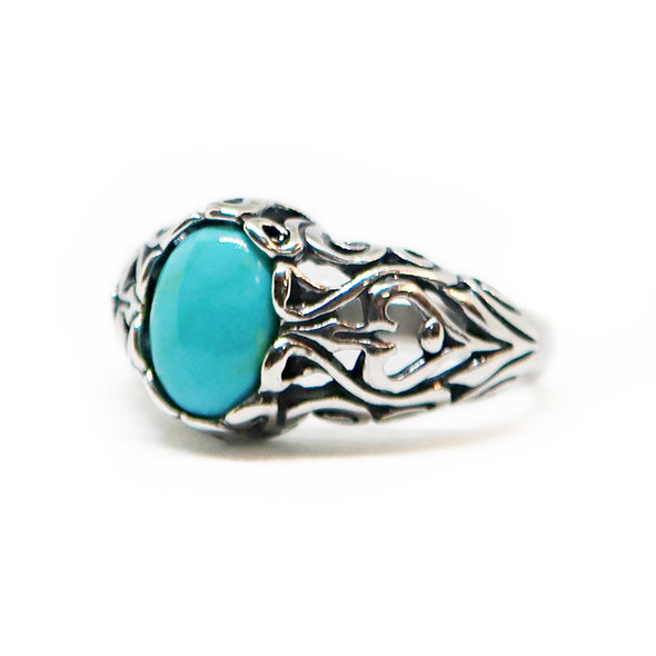 Sterling Silver Ring with Turqoise -  - State Street Jewelry and Loan