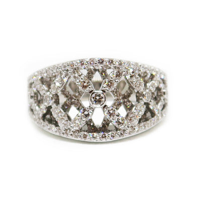 18K White Gold Ring with Diamonds -  - State Street Jewelry and Loan