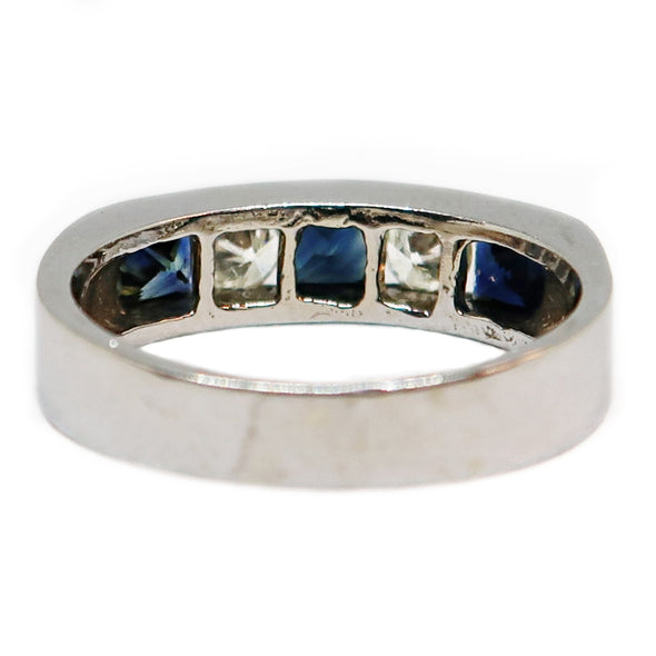 White Gold 14k Ring with Sapphires and Diamonds -  - State Street Jewelry and Loan