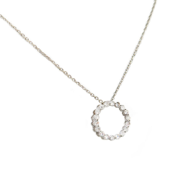 14K White Gold Diamond Necklace w/ pendant -  - State Street Jewelry and Loan