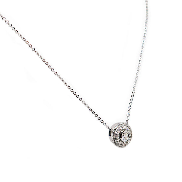 18K White Gold Diamond Necklace -  - State Street Jewelry and Loan
