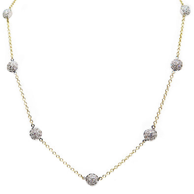 14K Two-Tone Diamond Necklace -  - State Street Jewelry and Loan