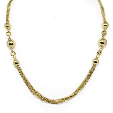 18K Yellow Gold Ball Necklace -  - State Street Jewelry and Loan