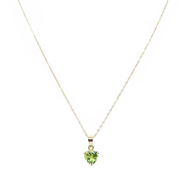 14K Yellow Gold Peridot Necklace -  - State Street Jewelry and Loan