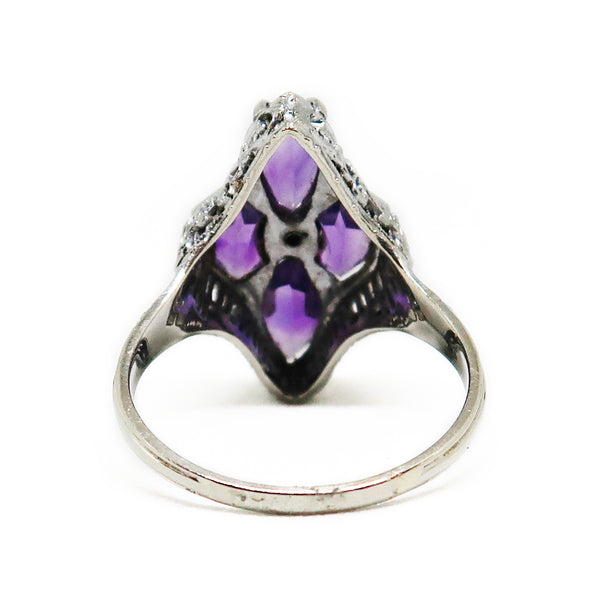 14KWG Amethyst Ring -  - State Street Jewelry and Loan