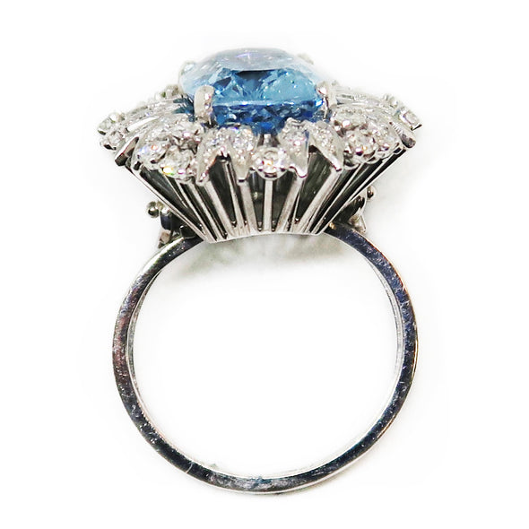 14K White Gold Aquamarine/Diamond Ring -  - State Street Jewelry and Loan