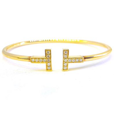 18K Yellow Gold and Diamonds Tiffany & Co. Bangle