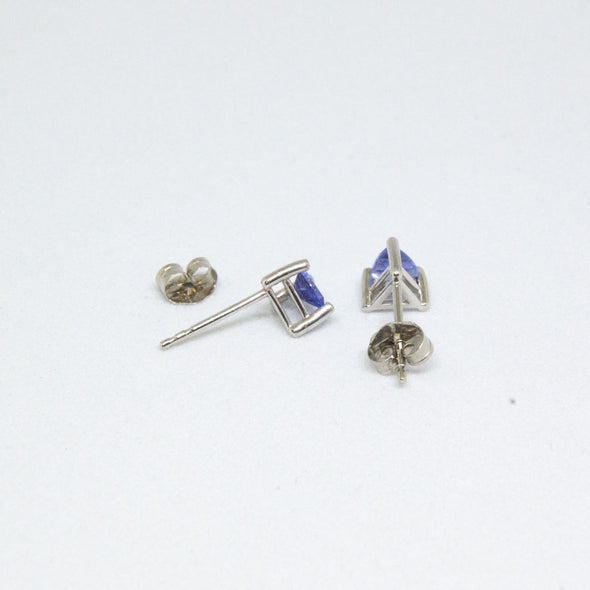 14K White Gold Tanzanite Earrings -  - State Street Jewelry and Loan