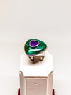 925 Sterling Silver Ring With Turquoise and Purple Stone