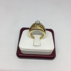 14K Yellow Gold Marquee Cut Diamond Engagement Ring -  - State Street Jewelry and Loan