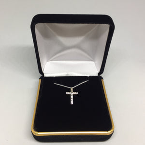 14K White Gold Diamond Cross Pendant -  - State Street Jewelry and Loan