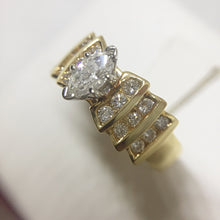 14k Yellow Gold Marquee Cut Engagement Ring -  - State Street Jewelry and Loan