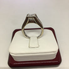 14k White Gold Ladies Engagement Ring with Princess Cut Diamonds. -  - State Street Jewelry and Loan