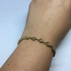14k Yellow Gold and Diamond Bracelet -  - State Street Jewelry and Loan