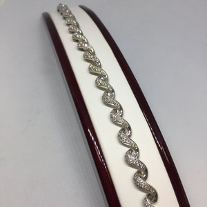 18k White Gold Diamond Tennis Bracelet -  - State Street Jewelry and Loan
