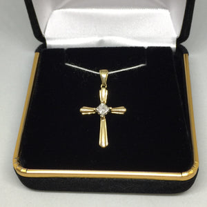 14K Cross Pendant With Diamonds -  - State Street Jewelry and Loan