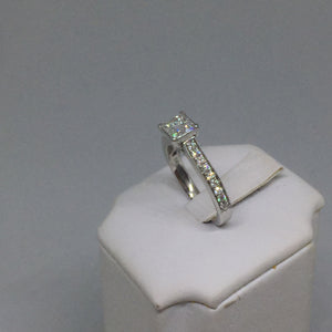 14k White Gold and Diamond Engagement Ring -  - State Street Jewelry and Loan