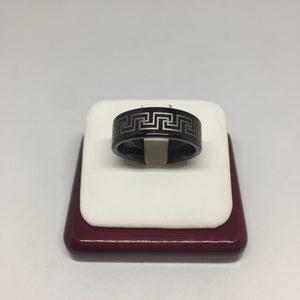 Black & Gray Tungsten Ring -  - State Street Jewelry and Loan
