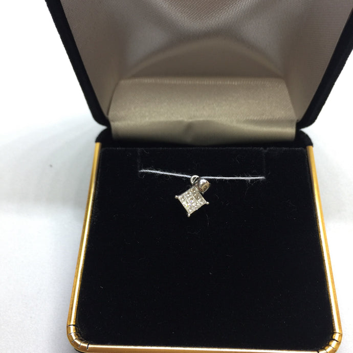 14K White Gold Diamond Pendant -  - State Street Jewelry and Loan