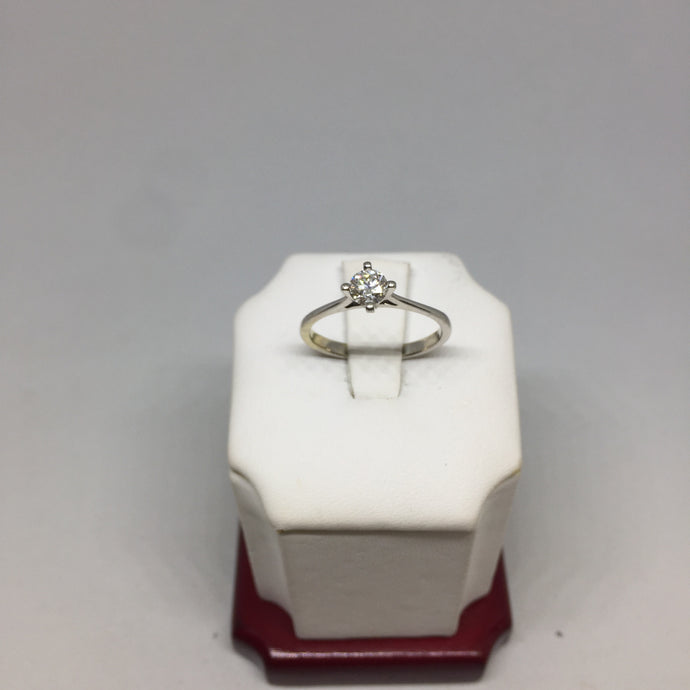 18k White Gold and Diamond Engagement Ring -  - State Street Jewelry and Loan