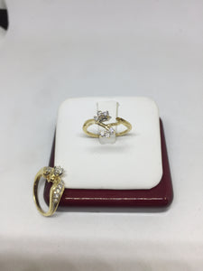 14K Yellow Gold Round Cut Diamond Engagement Ring -  - State Street Jewelry and Loan