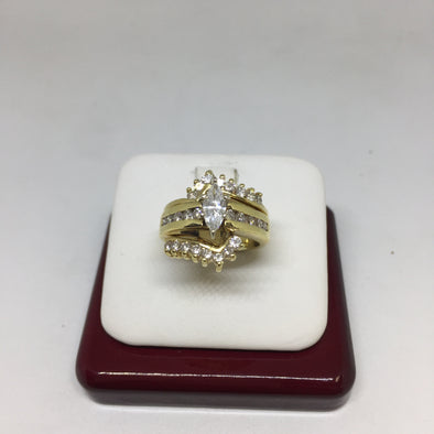 14k Yellow Gold Marque Cut Engagement Ring -  - State Street Jewelry and Loan