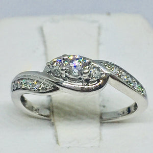 10k White Gold Ladies Diamond Engagement Ring -  - State Street Jewelry and Loan