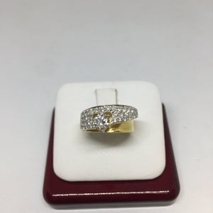 18K Yellow Gold Round Cut Engagement Ring -  - State Street Jewelry and Loan