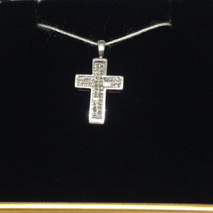 10K White Gold Diamond Cross Pendant -  - State Street Jewelry and Loan