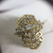 14K Yellow Gold Cluster Diamond Engagement Ring -  - State Street Jewelry and Loan