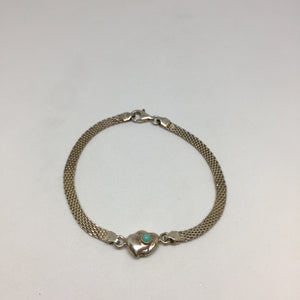 Sterling Silver Heart Bracelet -  - State Street Jewelry and Loan